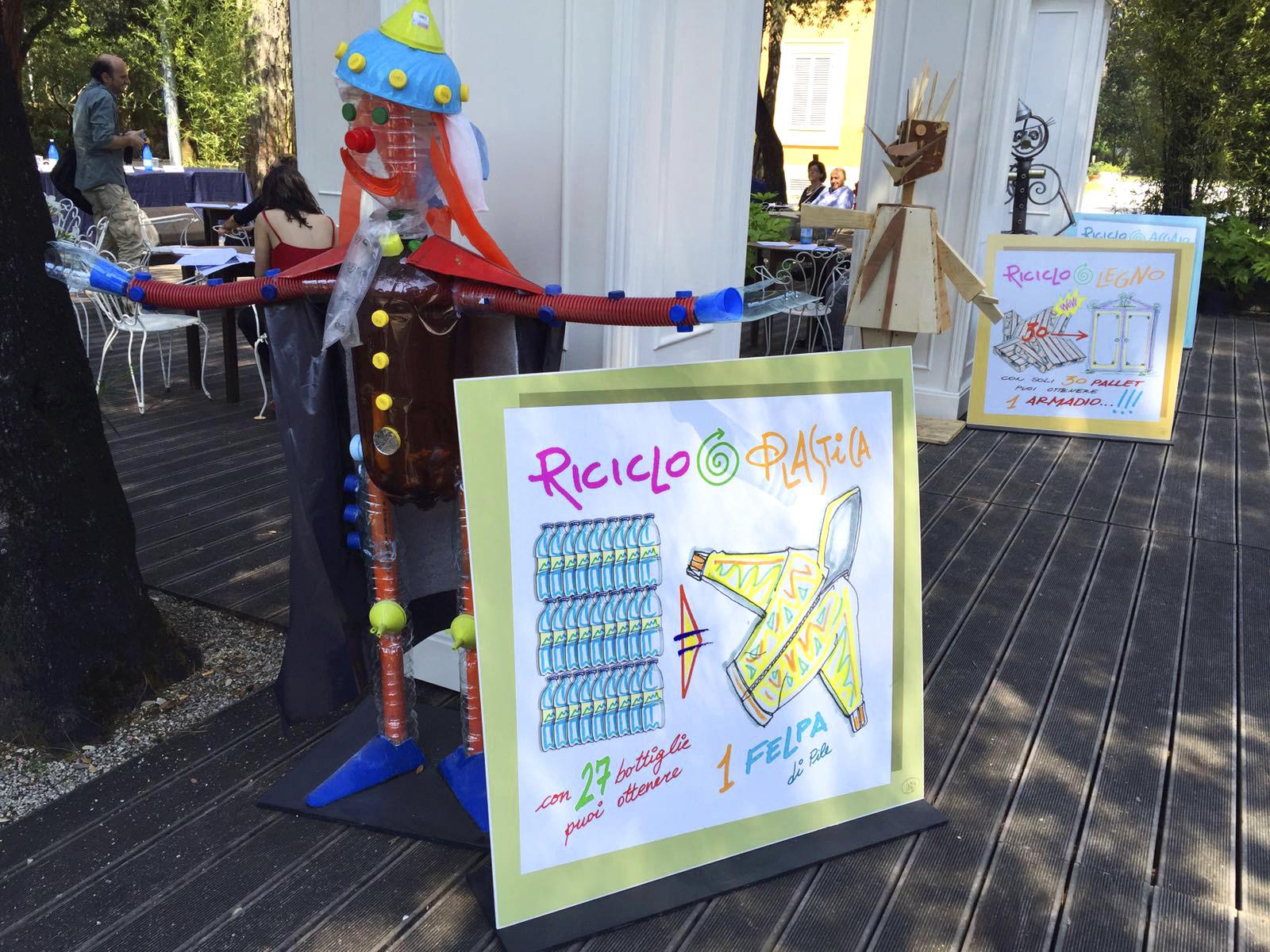 """Rifiuti, """"Arte, Riciclo e Materia"""" è il progetto di Anci e Conai inserito nel programma estivo della Versiliana e dedicato ai più piccoli."""