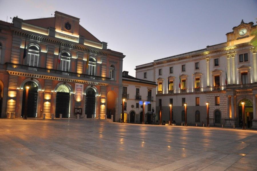 Piazza Mario pagano a Potenza, dove si terrà l'evento Rai del Capodanno 2017 (ph Sonia Berillo)