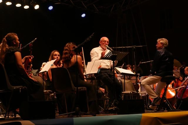 Paolo Rumiz e European Spirit of youth orchestra Vittoriano