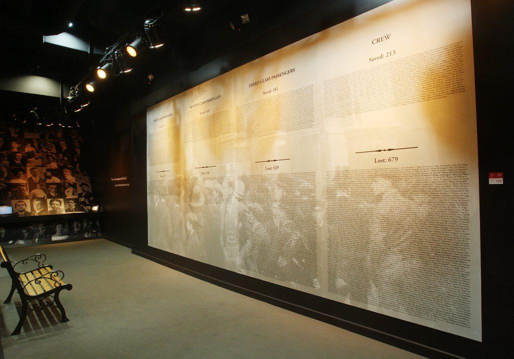 Titanic, il Memorial wall.