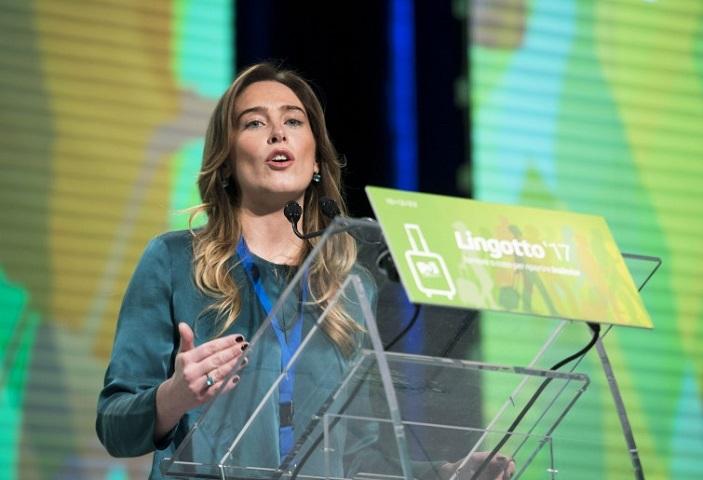 Assemblea del Pd LIngotto maria Elena Boschi unita.tv