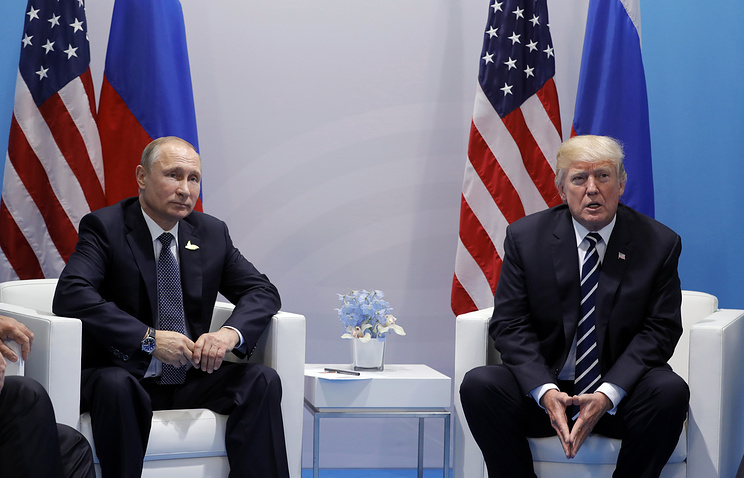 Donald Trump e Vladimir Putin divisi dalle sanzioni alla Corea del Nord (ph. Tass)/M. Metzel.