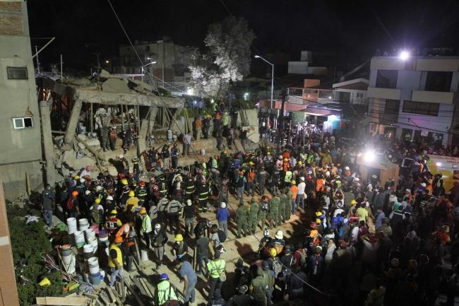 Terremoto in Messico del 19 settembre 2017 ph Notimex / Gustavo Duran).