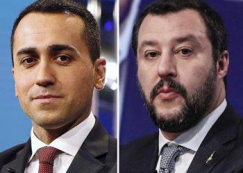 La combo, realizzata con due immagini di archivio, mostra Luigi Di Maio e Matteo Salvini (D). ANSA