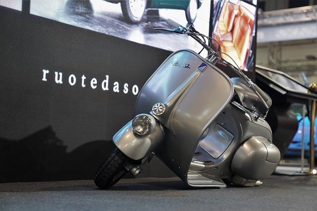 Ad Auto e modo d'Epoca Fiera di Padova 2020 anche a Vespa Piaggio 98cc del 1947.