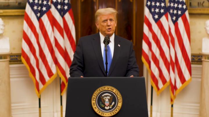 Ultimo discorso di Donald Trump dalla Casa Bianca